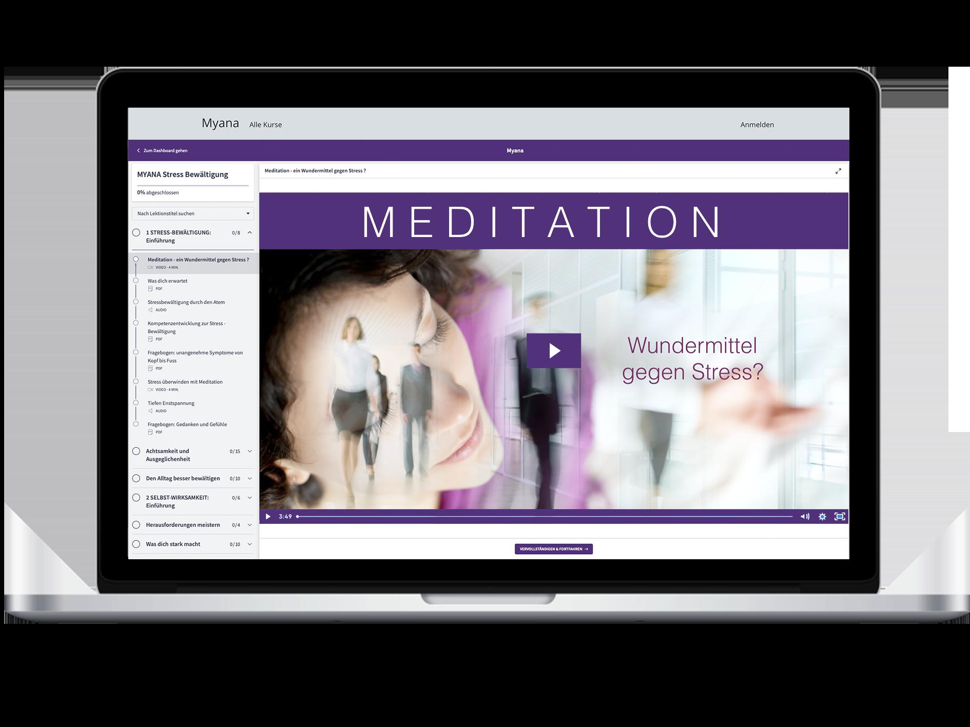 Myana dein Meditations Online Kurs
